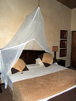 Bed in Lodge in South Africa